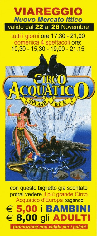 Acquatico Circus Ticket/Flyer -  0