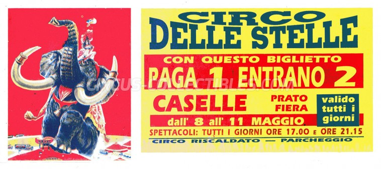 Circo delle Stelle Circus Ticket/Flyer - Italy 0