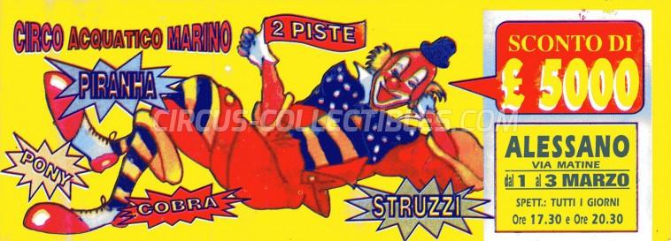 Marino Circus Ticket/Flyer - Italy 0