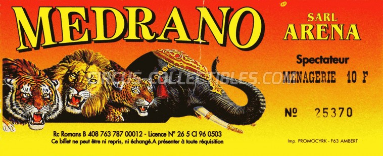 Medrano (FR) Circus Ticket/Flyer -  0