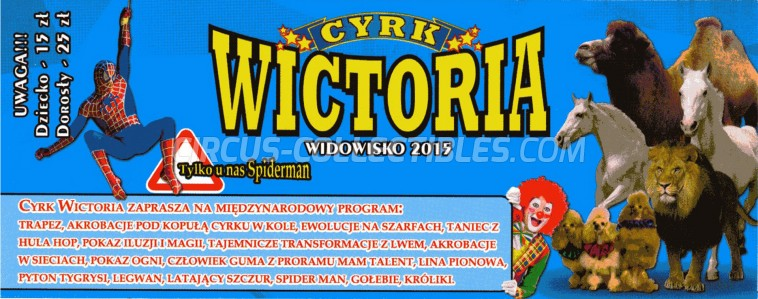 Wictoria Circus Ticket/Flyer -  2015