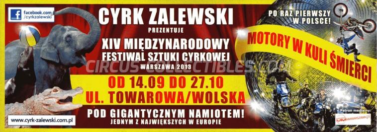 Zalewski Circus Ticket/Flyer - Poland 2013