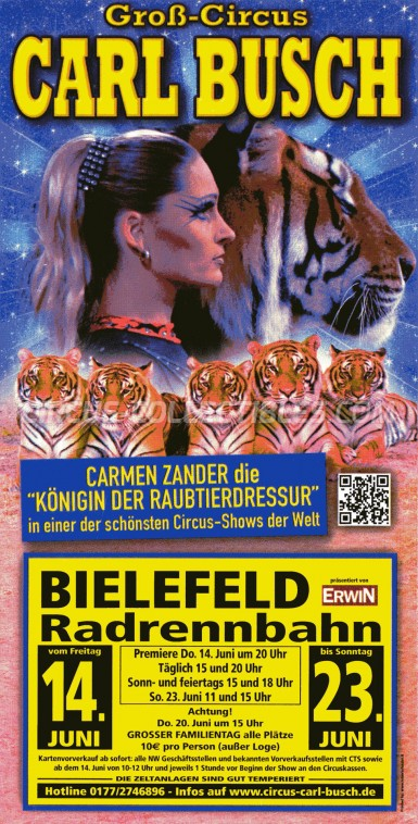 Carl Busch Circus Ticket/Flyer - Germany 2013