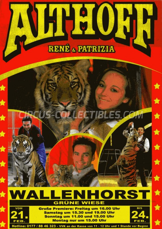 Althoff René & Patrizia Circus Ticket/Flyer - Germany 2014