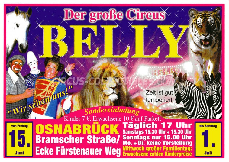 Belly Circus Ticket/Flyer - Germany 2012