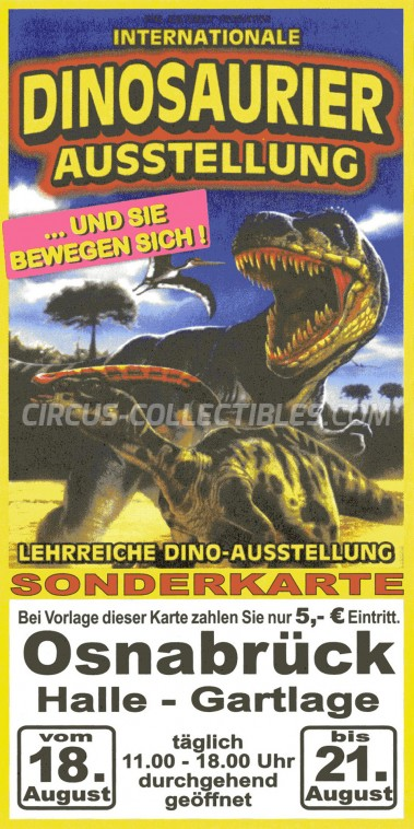 Dinosaurier Ausstellung Circus Ticket/Flyer - Germany 0
