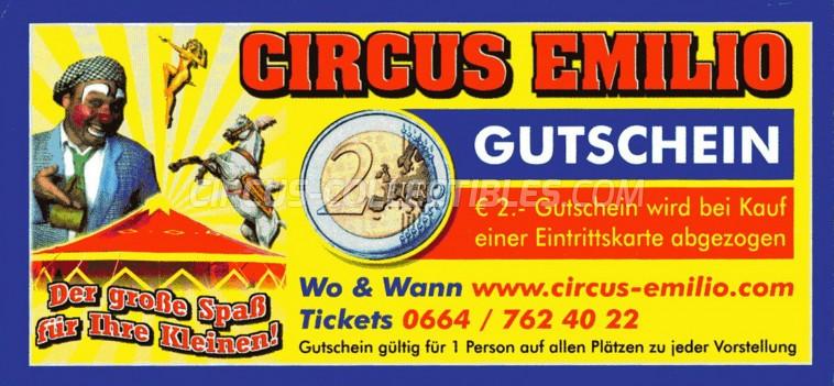 Emilio Circus Ticket/Flyer -  0