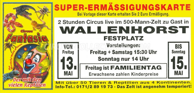 Fantasia Circus Ticket/Flyer - Germany 2011