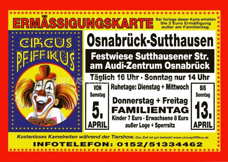 Pfiffikus Circus Ticket/Flyer - Germany 2014