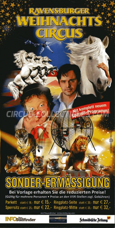 Ravensburger Weihnachts Circus Circus Ticket/Flyer - Germany 0