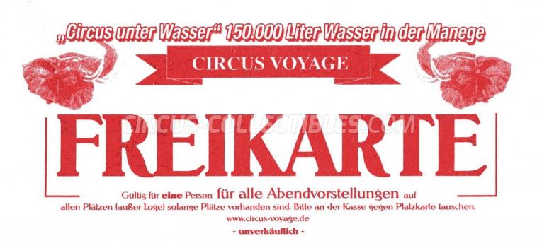 Voyage Circus Ticket/Flyer -  0