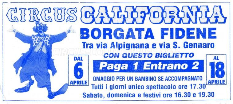 California Circus Ticket/Flyer - Italy 0