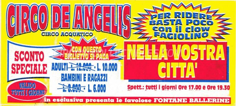 Circo de Angelis Circus Ticket/Flyer -  0