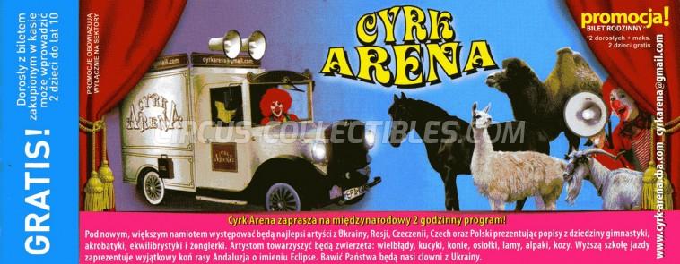 Arena (PL) Circus Ticket/Flyer -  0