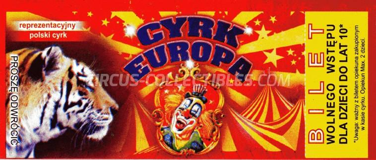 Europa Circus Ticket/Flyer -  0