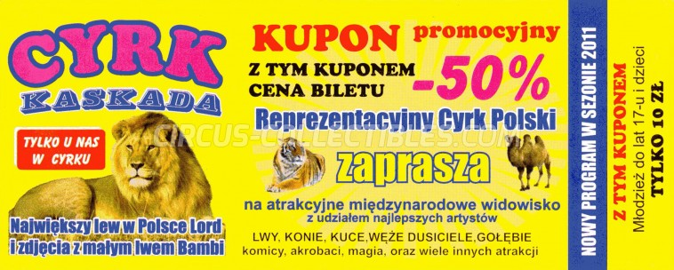 Kaskada Circus Ticket/Flyer -  2011
