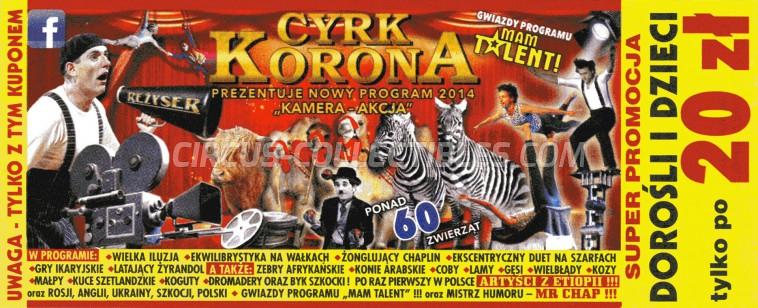 Korona Circus Ticket/Flyer -  2014