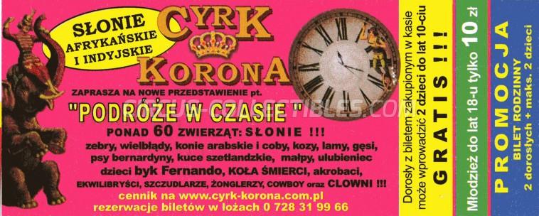 Korona Circus Ticket/Flyer -  0
