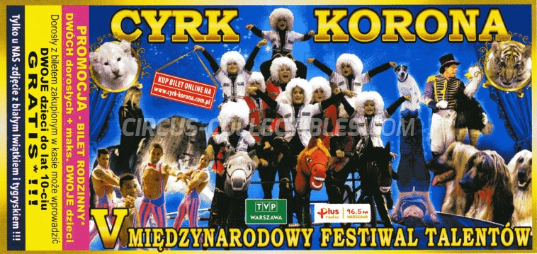 Korona Circus Ticket/Flyer -  0