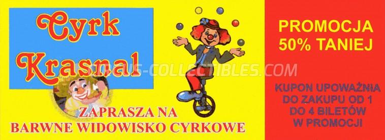 Krasnal Circus Ticket/Flyer -  0