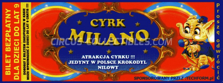 Milano Circus Ticket/Flyer -  0