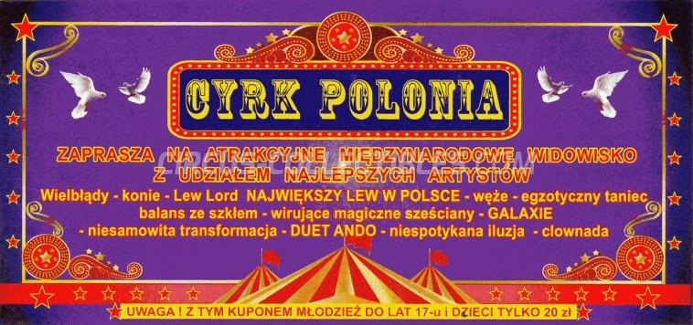 Polonia Circus Ticket/Flyer -  0