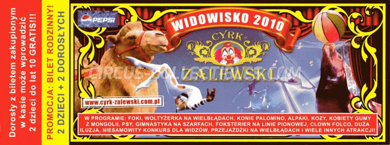Zalewski Circus Ticket/Flyer -  2010