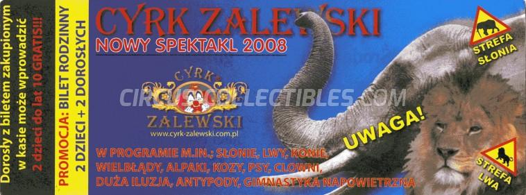 Zalewski Circus Ticket/Flyer -  2008