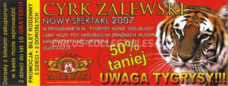Zalewski Circus Ticket/Flyer -  2007