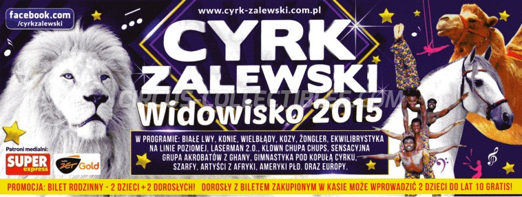 Zalewski Circus Ticket/Flyer -  2015