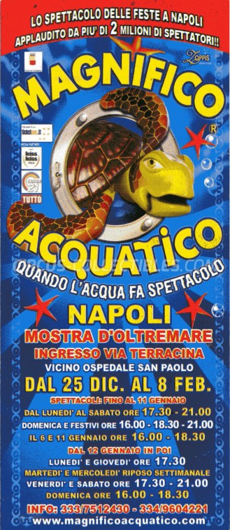 Acquatico Circus Ticket/Flyer - Italy 2014