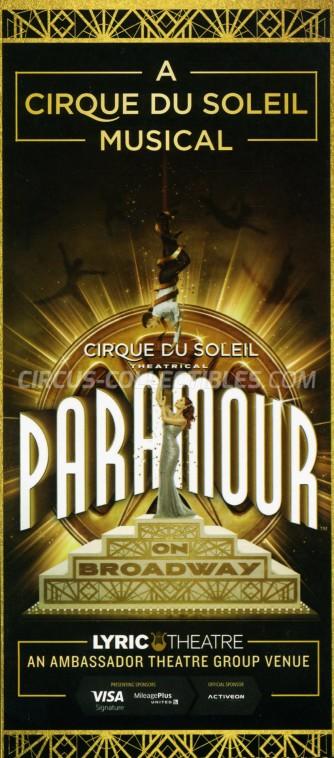 Cirque du Soleil Circus Ticket/Flyer - USA 2016