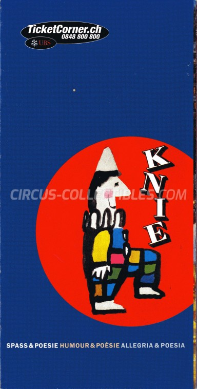 Knie Circus Ticket/Flyer -  2000