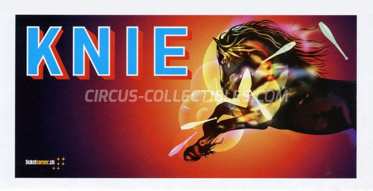Knie Circus Ticket/Flyer -  2015