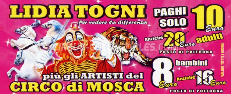 Lidia Togni Circus Ticket/Flyer - Italy 2015