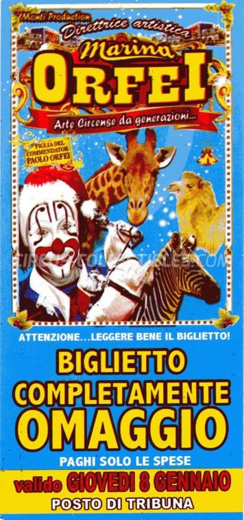 Marina Orfei Circus Ticket/Flyer -  0