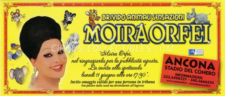 Moira Orfei Circus Ticket/Flyer - Italy 2001