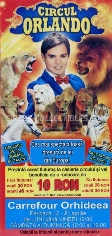 Orlando Circus Ticket/Flyer - Romania 2013