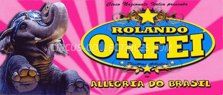 Rolando Orfei Circus Ticket/Flyer - Italy 2013