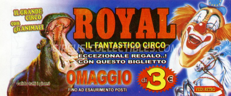 Royal (IT) Circus Ticket/Flyer - Italy 2015