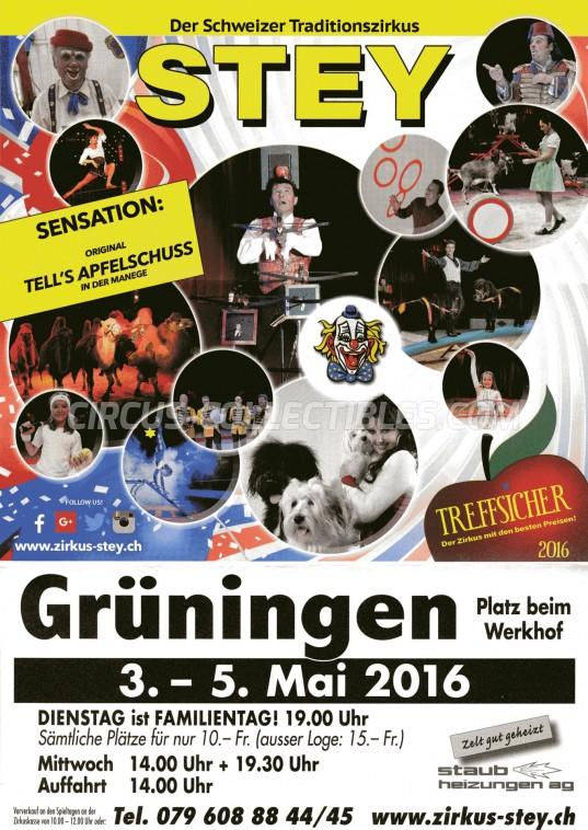 Stey Circus Ticket/Flyer - Switzerland 2016