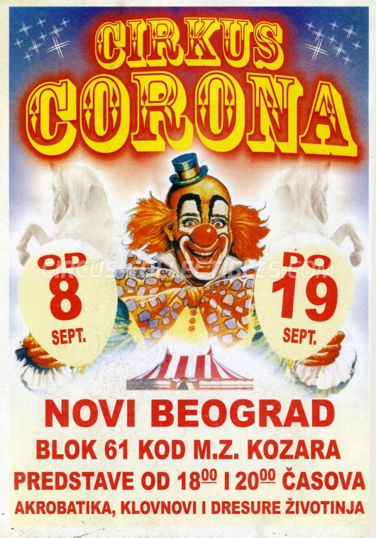 Corona Circus Ticket/Flyer - Serbia 2011