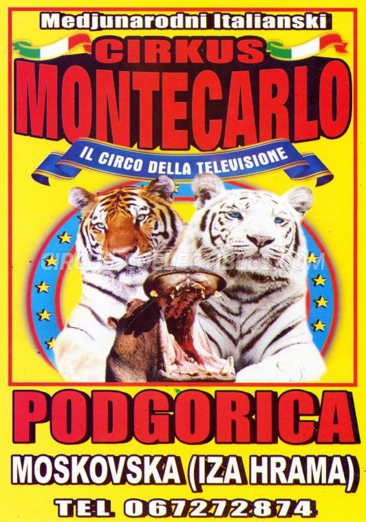 Circo di Montecarlo Circus Ticket/Flyer - Montenegro 2016