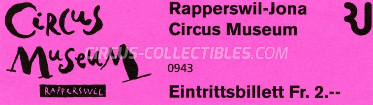 Circus Museum Rapperswil Circus Ticket/Flyer -  2016
