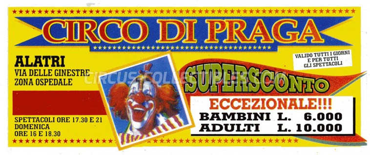 Circo di Praga Circus Ticket/Flyer -  0