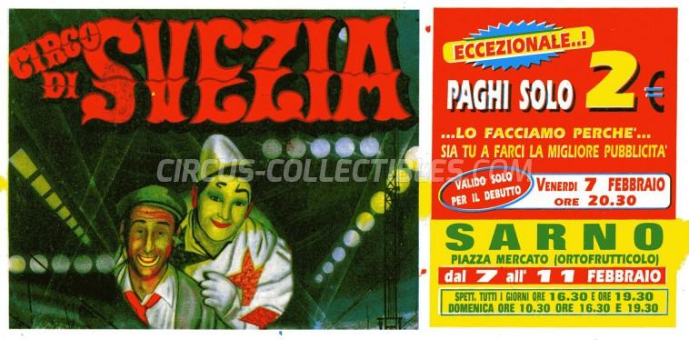 Circo di Svezia Circus Ticket/Flyer - Italy 0