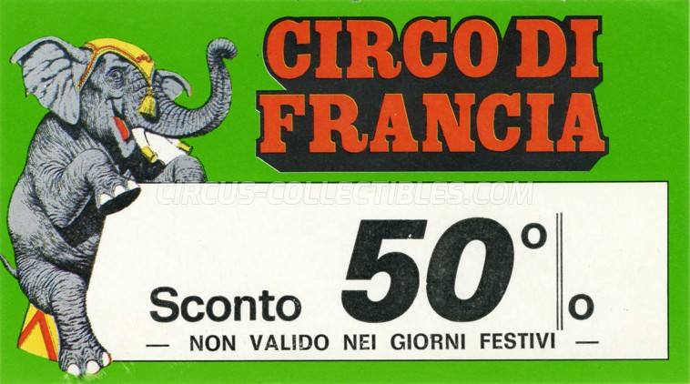 Circo di Francia Circus Ticket/Flyer -  0