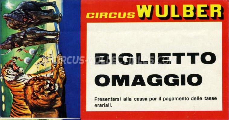 Wulber Circus Ticket/Flyer -  1983