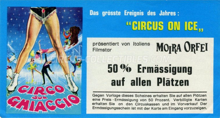 Moira Orfei Circus Ticket/Flyer - Germany 1973