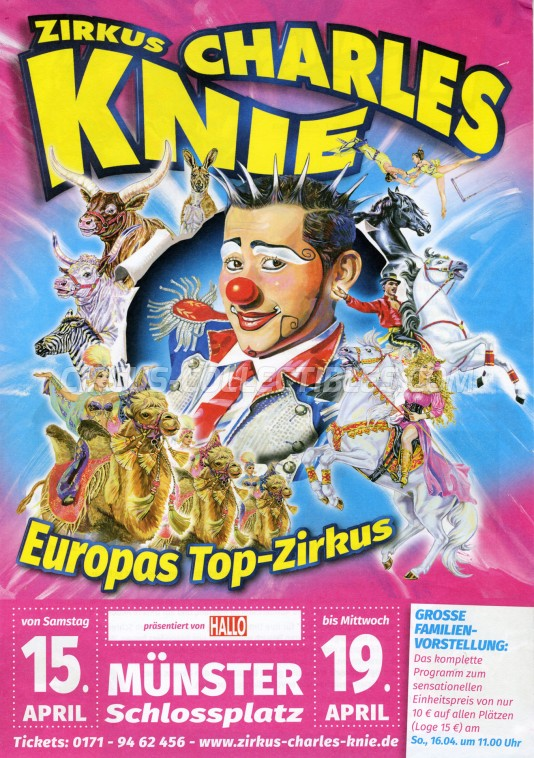 Charles Knie Circus Ticket/Flyer - Germany 2017